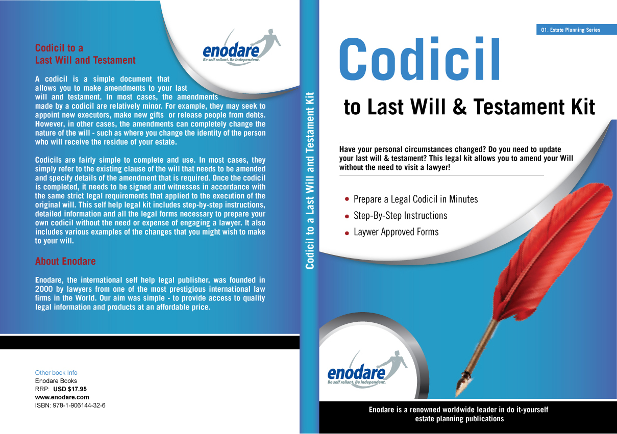 Codicil to will kit view cover solutioingenieria Gallery